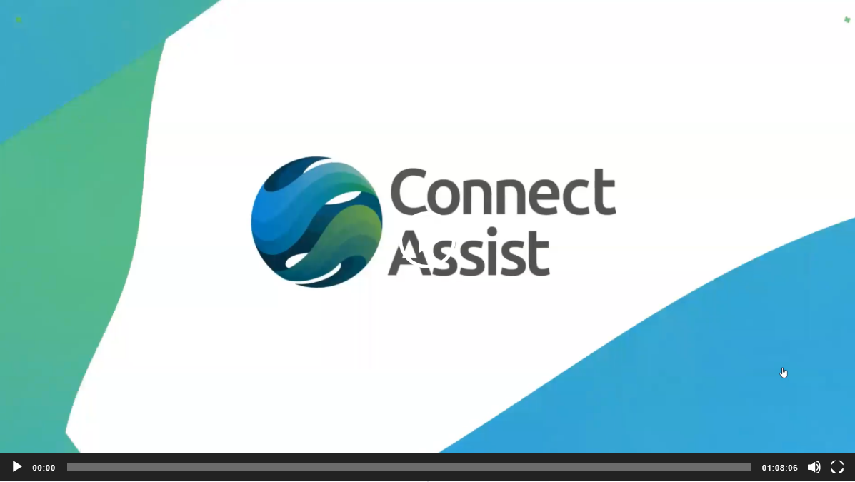 Connect Assist webinar video play screen