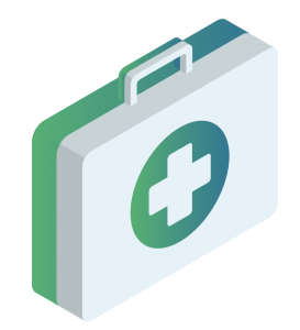 Graphic of a first aid kit