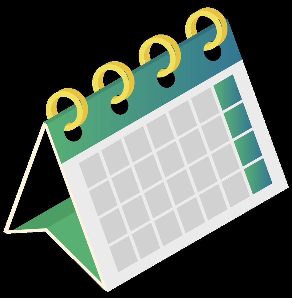 Graphic of a desk calendar