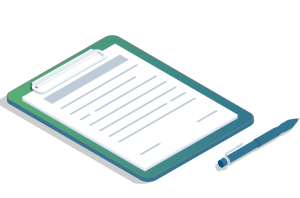 Graphic of a contract