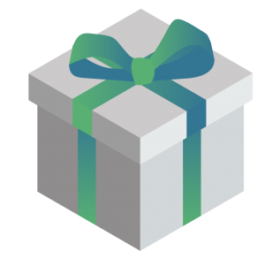 Graphic of a gift