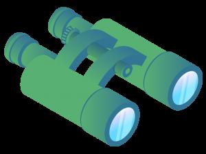 Graphic of binoculars