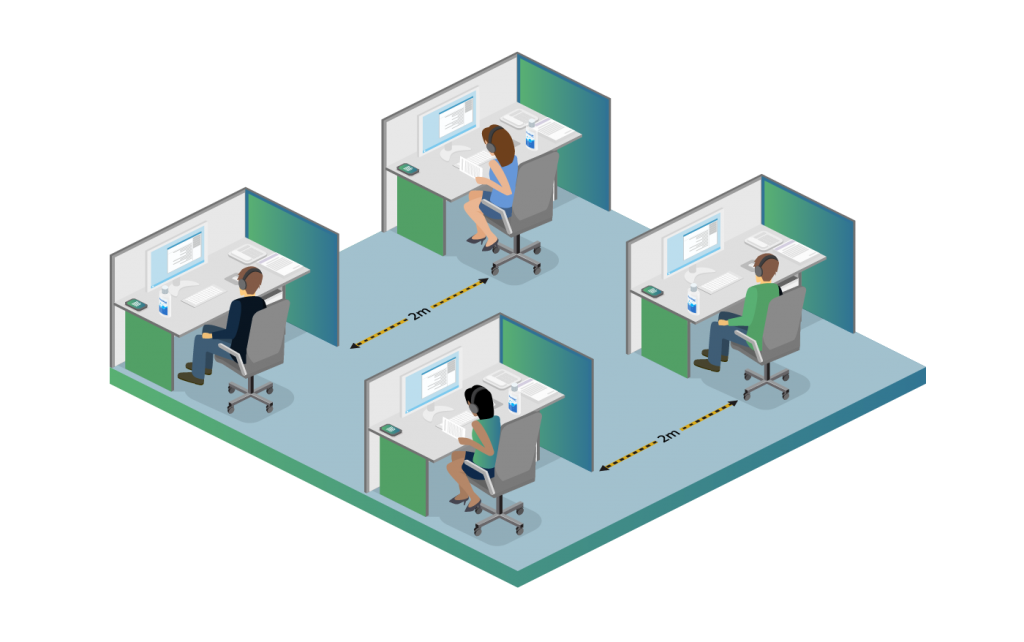 social distancing in a contact centre